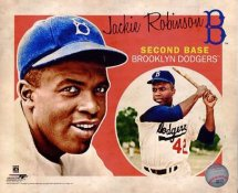 Jackie Robinson Brooklyn Dodgers SATIN 8X10 Photo