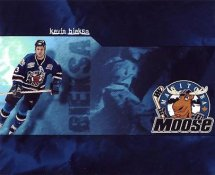 Kevin Bieksa LIMITED STOCK Manitoba Moose 8x10 Photo