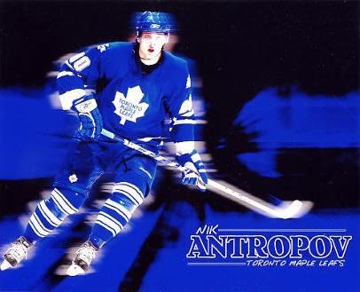 Nik Antropov LIMITED STOCK Toronto Maple Leafs 8x10 Photo