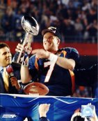 John Elway LIMITED STOCK w/ Lombardi Trophy Denver Broncos 8X10 Photo