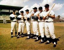 Mickey Mantle, Roger Maris, Yogi Berra, Elston Howard, Bill Skowron & Johnny Blanchard All Players Had 20 or More Home Runs 1961 SUPER SALE Glossy Card Stock New York Yankees 11x14 Photo