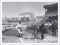 Lou Gehrig Farewell Speech SUPER SALE Card Stock New York Yankees 11X14 Photo