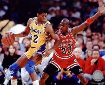 Michael Jordan & Magic Johnson 8X10 Photo LIMITED STOCK