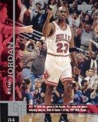 Michael Jordan SUPER SALE Game Winning Shot 6/1/97 Upper Deck Glossy Card Stock Chicago Bulls 8x10 Photo