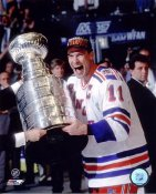 Mark Messier LIMITED STOCK With The 1994 Stanley Cup New York Rangers 8x10 Photo