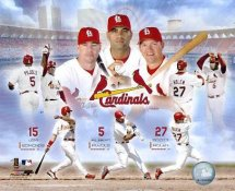 Jim Edmonds, Albert Pujols & Scott Rolen LIMITED STOCK St. Louis Cardinals 8X10 Photo