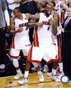 Dwyane Wade & Lebron James Celebrate NBA Finals 2012 Game 5 Win Miami Heat 8X10 Photo LIMITED STOCK