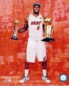 Lebron James w/ 2012 NBA Champs & MVP Trophies Miami Heat 8X10 Photo LIMITED STOCK