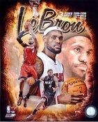 Lebron James 3 Time MVP Miami Heat SATIN 8X10 Photo LIMITED STOCK