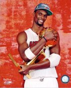 Chris Bosh w/ 2012 NBA Champs Trophy Miami Heat 8X10 Photo LIMITED STOCK