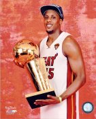 Mario Chalmers w/ 2012 NBA Champs Trophy Miami Heat 8X10 Photo LIMITED STOCK