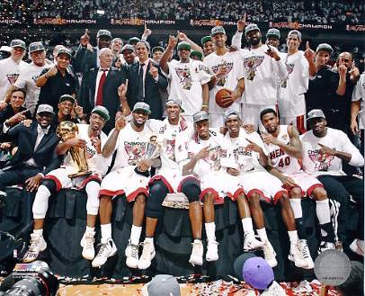 Miami Heat 2012 Celebrate NBA Championship Win 8X10 Photo LIMITED STOCK