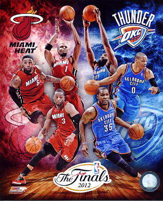 Miami Heat Oklahoma Thunder 2012 NBA Finals Match Up 8X10 Photo LIMITED STOCK