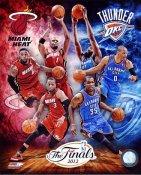 Miami Heat Oklahoma Thunder 2012 NBA Finals Match Up 8X10 Photo LIMITED STOCK