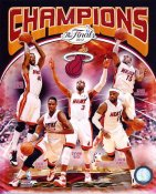 Mario Chalmers, Lebron James, Dwyane Wade, Chris Bosh, Udonis Haslem 2012 Champions Miami Heat 8X10 Photo LIMITED STOCK