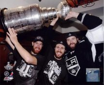 Mike Richards, Dustin Penner & Jeff Carter w/ 2012 Stanley Cup Los Angeles Kings 8x10 Photo