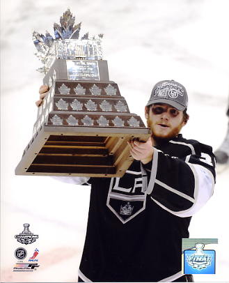 Jonathan Quick w/ 2012 Conn Smythe Trophy Los Angeles Kings 8x10 Photo