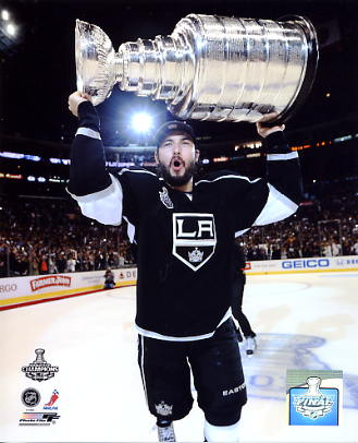 Drew Doughty w/ 2012 Stanley Cup Los Angeles Kings 8x10 Photo