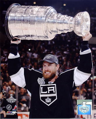 Jeff Carter w/ 2012 Stanley Cup Los Angeles Kings 8x10 Photo