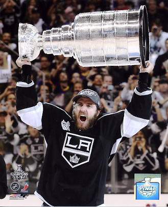 Mike Richards w/ 2012 Stanley Cup Los Angeles Kings 8x10 Photo