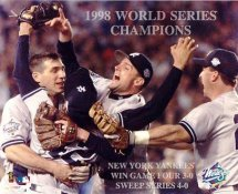 Chuck Knoblauch, Tino Martinez & Joe Girardi 1998 World Series Champs LIMITED STOCK New York Yankees 8X10 Photo