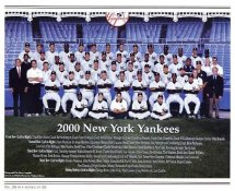 Yankees 2000 World Champions New York Team Photo Daily News with Headlines On Back / Glossy Paperstock Includes Top Load Holder 8X10 Photo