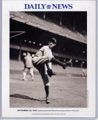 Herb Pennock 1932 New York Yankees Daily News Bill Gallo Cartoon & Stats on Back, Comes in Top Load Holder 8X10 Photo