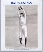 Willie Keeler 1909 New York Yankees Daily News Bill Gallo Cartoon & Stats on Back, Comes in Top Load Holder 8X10 Photo