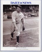Waite Hoyt 1921 New York Yankees Daily News Bill Gallo Cartoon & Stats on Back, Comes in Top Load Holder 8X10 Photo