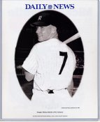 Mickey Mantle New York Yankees Daily News Bill Gallo Cartoon & Stats on Back, Comes in Top Load Holder 8X10 Photo