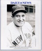 Joe McCarthy 1938 New York Yankees Daily News Bill Gallo Cartoon & Stats on Back, Comes in Top Load Holder 8X10 Photo