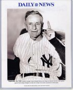 Casey Stengel 1955 New York Yankees Daily News Bill Gallo Cartoon & Stats on Back, Comes in Top Load Holder 8X10 Photo