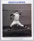 Lefty Gomez 1937 New York Yankees Daily News Bill Gallo Cartoon & Stats on Back, Comes in Top Load Holder 8X10 Photo