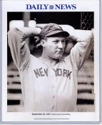 Red Ruffing 1932 New York Yankees Daily News Bill Gallo Cartoon & Stats on Back, Comes in Top Load Holder 8X10 Photo