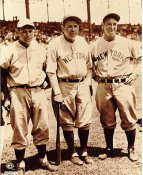 Jimmy Foxx, Lou Gehrig & Babe Ruth No Hologram LIMITED STOCK New York Yankees 8X10 Photo