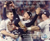 Chuck Knoblauch, Tino Martinez & Joe Girardi 1998 World Series Champs SUPER SALE New York Yankees 8X10 Photo