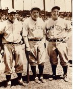 Jimmy Foxx, Lou Gehrig & Babe Ruth No Hologram SUPER SALE Darker Exposure No Hologram New York Yankees 8X10 Photo