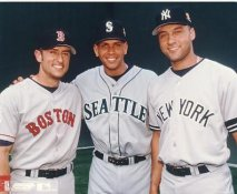 Nomar Garciaparra, Alex Rodriguez & Derek Jeter LIMITED STOCK Boston Red Sox No Hologram 8x10 Photo