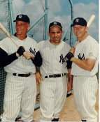 Roger Maris, Yogi Berra, Mickey Mantle HO HOLOGRAM New York Yankees 8X10 Photo LIMITED STOCK