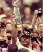 Reggie White w/ Lombardi Trophy Super Bowl 31 LIMITED STOCK Green Bay Packers 8X10 Photo