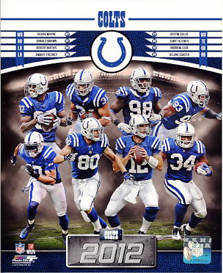 Colts 2012 Indianapolis Team 8X10 Photo