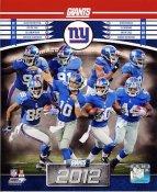 Giants 2012 New York Team 8x10 Photo