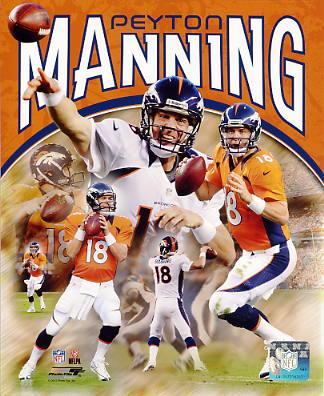 Peyton Manning Denver Broncos SATIN 8X10 Photo
