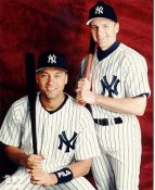 Chuck Knoblauch & Derek Jeter LIMITED STOCK No Hologram New York Yankees 8X10 Photo
