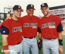 Nomar Garciaparra, Alex Rodriguez & Derek Jeter LIMITED STOCK Boston Red Sox No Hologram 8x10 Photo