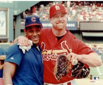 Sammy Sosa & Mark McGwire SUPER SALE No Hologram Lighter Exposer Cubs & Cardinals 8X10 Photo