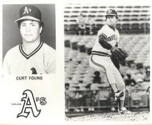 Curt Young LIMITED STOCK Oakland Athletics 8X10 Photo