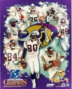 Gary Anderson, Chris Carter, Cris Carter, Randy Moss, John Randle, Central Division Champions 1998 LIMITED STOCK Minnesota Vikings 8x10 Photo