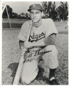 Bill Sharman Facsimile Signature LIMITED STOCK Brooklyn Dodgers 8x10 Photo