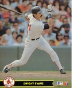 Dwight Evans LIMITED STOCK Boston Red Sox Glossy Card Stock 8X10 Photo